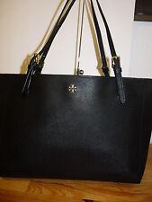 Tory Burch York Large Buckle Black Saffiano Leather Tote Shoulder Laptop Bag #6