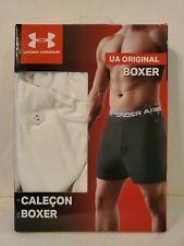 Under Armour Men's UA Original Boxer Shorts, White Size S Small - W
