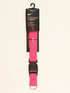 Nike Lanyard Detachable Keyring Pink Unisex One Size 100% Genuine Brand New