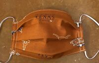 Fabric Face mask Handmade Washable Reusable Cotton UT Texas Longhorns Mascot UT