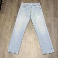 Levi's Vintage Jean 501 33x32 Button Fly Light Wash Denim Made USA 501-0134