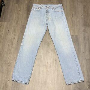 Levi's Vintage Jean 501 33x32 Button Fly Light Wash Denim Made USA 501-0134