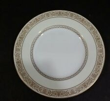"""Vintage Minton Number S143  Gold Trim Dinner Plate 10.50 """" Ivory and White #2"""