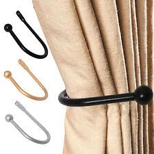 LARGE STYLISH CURTAIN HOLD BACK Metal Tie Tassel Arm Hook Loop Holder Ball End