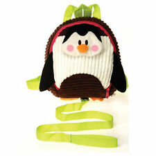 "Backpack 11"" Plush Penguin Corduroy Detachable Harness Leash Age 3+ NEW"