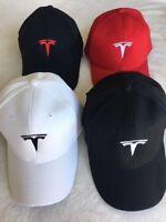 ADJUSTABLE mans women cap TESLA Motor car HAT Embroidery Logo 4 colors with box