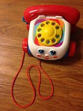 Fisher-Price Chatter Telephone-Toy-Rotary-Dial-Pull-Along-Moving-Eyes