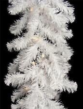 9ft White Glacier Pine Christmas Garland Luxury Design