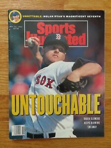 ROGER CLEMENS / NOLAN RYAN Sports Illustrated May 1991 Magazine No Label RED SOX