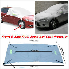Car Windscreen Windows Mirror Front & Side Frost Snow Ice/ Dust Protector Cover