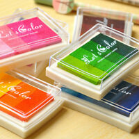 DIY Craft Multi Colors Ink Pad Oil Based For Rubber Stamps Paper Wood Fabric New