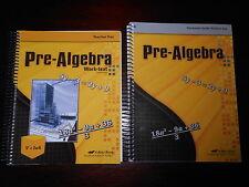 A Beka  Pre-Algebra teacher keys lot of 2  homeschooling 8th grade Math