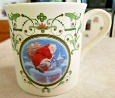 "Lenox Santa's Portrait Mug Titled ""Santa's Arrival""  Made In USA Microwave Safe"
