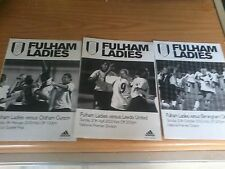Fulham Ladies v Oldham Curzon Ladies 2002-2003 F.A Cup Programme