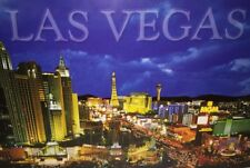 Las Vegas Strip Night Casino Nevada 100 Postcards MGM New York