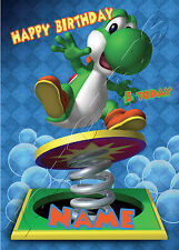 - MARIO YOSHI - IDEAL FOR SON FRIEND PERSONALISED CHILDREN'S BIRTHDAY CARD