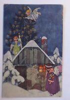 """""""Navidad, Ángel, Árbol de Navidad, Postal de Artista"""" 1917 (61000)"""