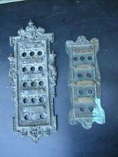 2 Bronze Platten für Klingel Anlage Gründerzeit