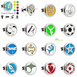 Car Vent Clip Essential Oil Diffuser Aromatherapy Alloy Lockets scent free gifts