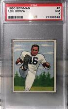PSA 7 NM Mint LOU GROZA RC 1950 Bowman Card No.6 Rookie Browns HOF Rare!!!