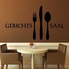 Wandtattoo Gerichtssaal Gericht Saal EsszimmerWandspruch Küche Essen +216+
