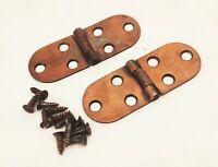 Vtg antique Singer treadle sewing machine cabinet top cover leaf lid hinges