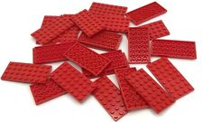 LEGO LOT OF 25 RED 4 X 8 DOT PLATES BUILDING BLOCKS PIECES PARTS