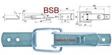 Spannverschluss Nietloch Ø 3,5 mm EDELSTAHL Kappenschloss Kistenverschluss