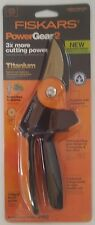 "FISKARS PowerGear2 TITANIUM Pruner P552 - Cuts 3x easier! Up to 3/4"" cut"