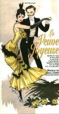 Programme la veuve joyeuse opérette 3 actes Victor Léon musique de Franz Lehar