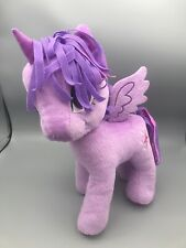 2012 Purple My Little Pony Plush EUC 12 Inches Tall Unicorn With Horn And Wings