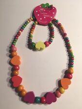 Wooden Beads (HEARTS) Children's Necklace & Bracelet Sets-K5