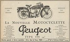 Y7703 Motocyclette PEUGEOT Type 175 cc - Pubblicità d'epoca - 1925 Old advert