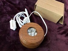 Light Base Wood round Display Night Light Base Stand New in box