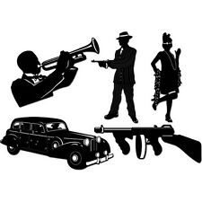 All That Jazz GANGSTER SILHOUETTE Die-Cuts* Wall Decorations*Roaring 20's