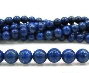 "Natural 4mm Blue Egyptian Lazuli Lapis Gemstone Round Loose Beads 15"""