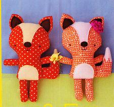 PATTERN - Florrie & Finn - softie/toy fox PATTERN - Two Brown Birds