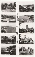 Isle of Wight Postcard - Views of The Isle of Wight - Real Photograph   BR404