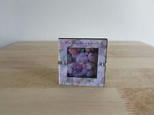 """Vintage 1998 Anne Geddes Miniature Picture Photo Print Framed Easel Stand 3"""" sq."""