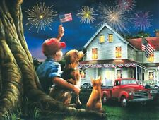Jigsaw Puzzle Patriotic July 4th God Bless the USA 300 pieces NEW made in USA