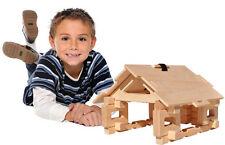Timberworks Toys Interlocking Wooden Blocks Set - Cottage / Bridge