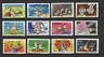 FRANCE 2014 bonne année toute série de 12 timbres autoadhésifs oblitérés /T3429