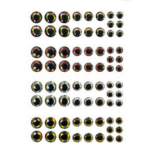 360pcs Fishing Lure Eyes 4D Holographic Eyes Fly Tying Jigs Crafts Doll 6-8-10mm