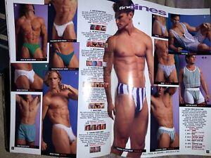 LOT of 4 1990s Undergear CATALOGS Magazines Gay Interest Men's Wear Swim Suits