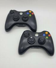 Microsoft Xbox 360 Wireless Controller Lot Of 2 Black 1403 - Fast Free Ship