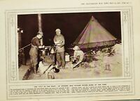 1916 WWI WW1 PRINT CHEF AT THE FRONT OFFICERS ~ COOKING MESS KITCHEN SOLDIERS