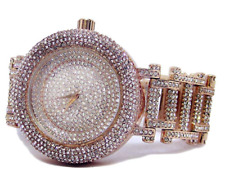 Ultra bling faux diamond Orbit Rose Gold plated HipHop Bling Watch