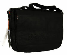 Borsa tracolla pelle bag NAPAPIJRI a. 4BNN6A03 KAMOV MESSENGER c. 041 NERO BLACK