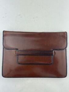 SAINT LAURENT vintage bronze envelope clutch