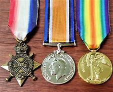**WW1 AUSTRALIAN BRITISH COMMONWEALTH MEDAL TRIO GROUP REPLICA ANZAC